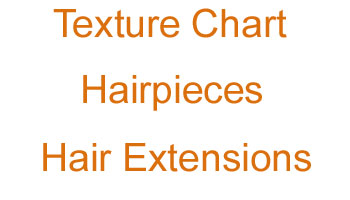 Hairpieces Hair Extensions Texture Chart