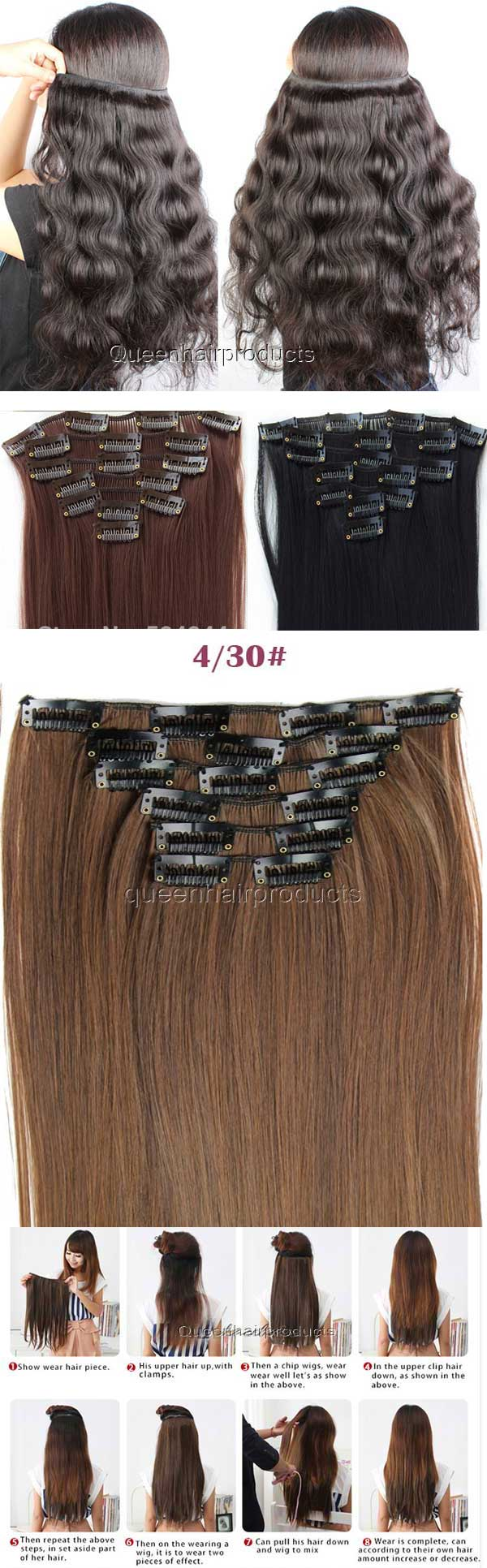 Brazilian Clip In Hair Extensionshair Factory Price Brazilian Hair