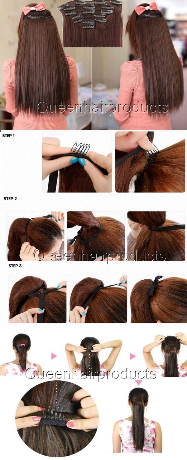 Indian clip in hair extensions