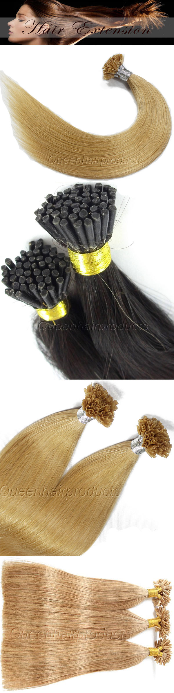 Indian Virgin Remy Pre Bonded Hair Extensions Manufacturerfactory