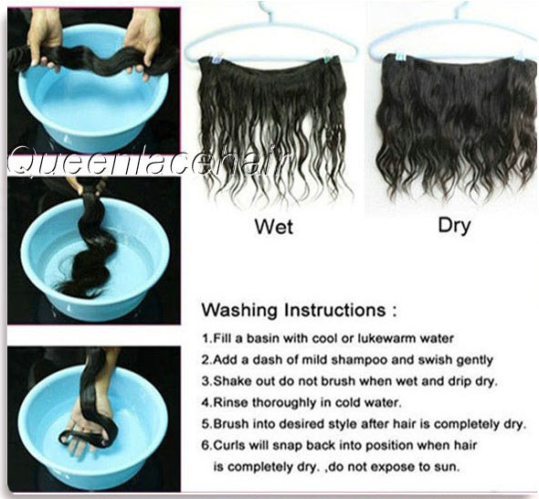 Wash hair weaves