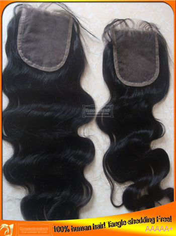 Stocked Indian Human Hair Top Lace Closures Supplier