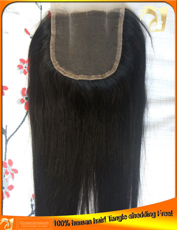 Straight Virgin Peruvian Lace Top Closure,Wholesale Price,Tangle,Shedding Free