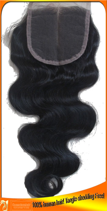 Brazilian Virgin Hair Wavy Lace Top Closure,Factory Price