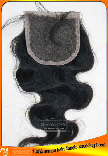 Indian Virgin Pure Human Hair Top Quality Lace Closure Body Wave,Factory Price