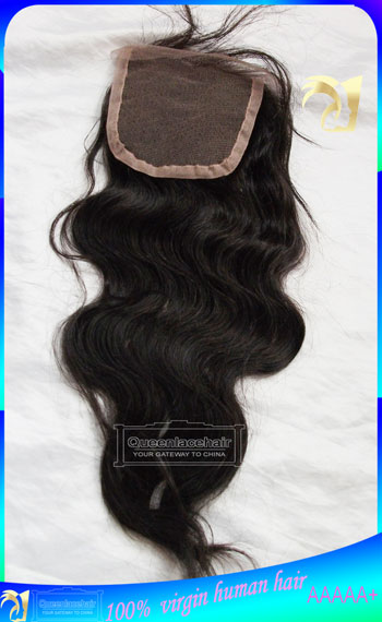 Indian Virgin Hair Body Wave Lace Top Closure Free Parting