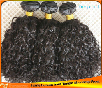 Best Indian Remy Human Hair Deep Curl Hair Weaving,Cheap Price,Tangle Shedding Free