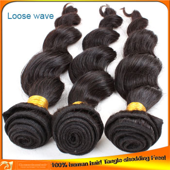 Brazilian Natural Hair Loose Wave Hair Wefts Lower Price