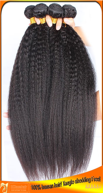 Virgin Brazilian Human Hair Kinky Straight  Weave Wefts