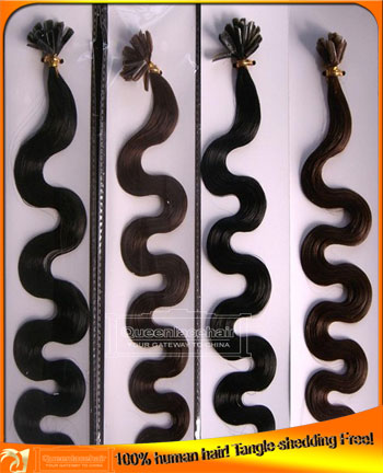 Indian Virgin Remy  Human Hair Body Wave Nail I V Shape Pre Tipped Hair Extensions Seller,Cheap Price