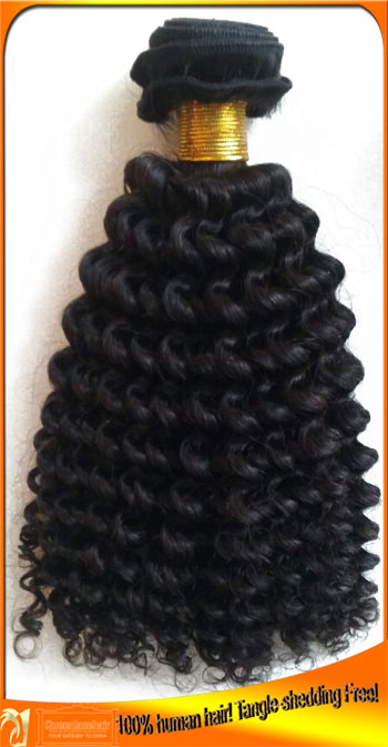 Indian Virgin Kinky Curl Human Hair Wefts,Cheap Price