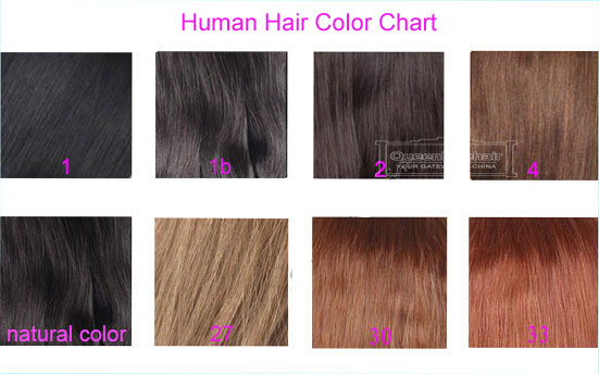 Human Hair Color Chart For Lace Closure Hair Pieces Human Hair